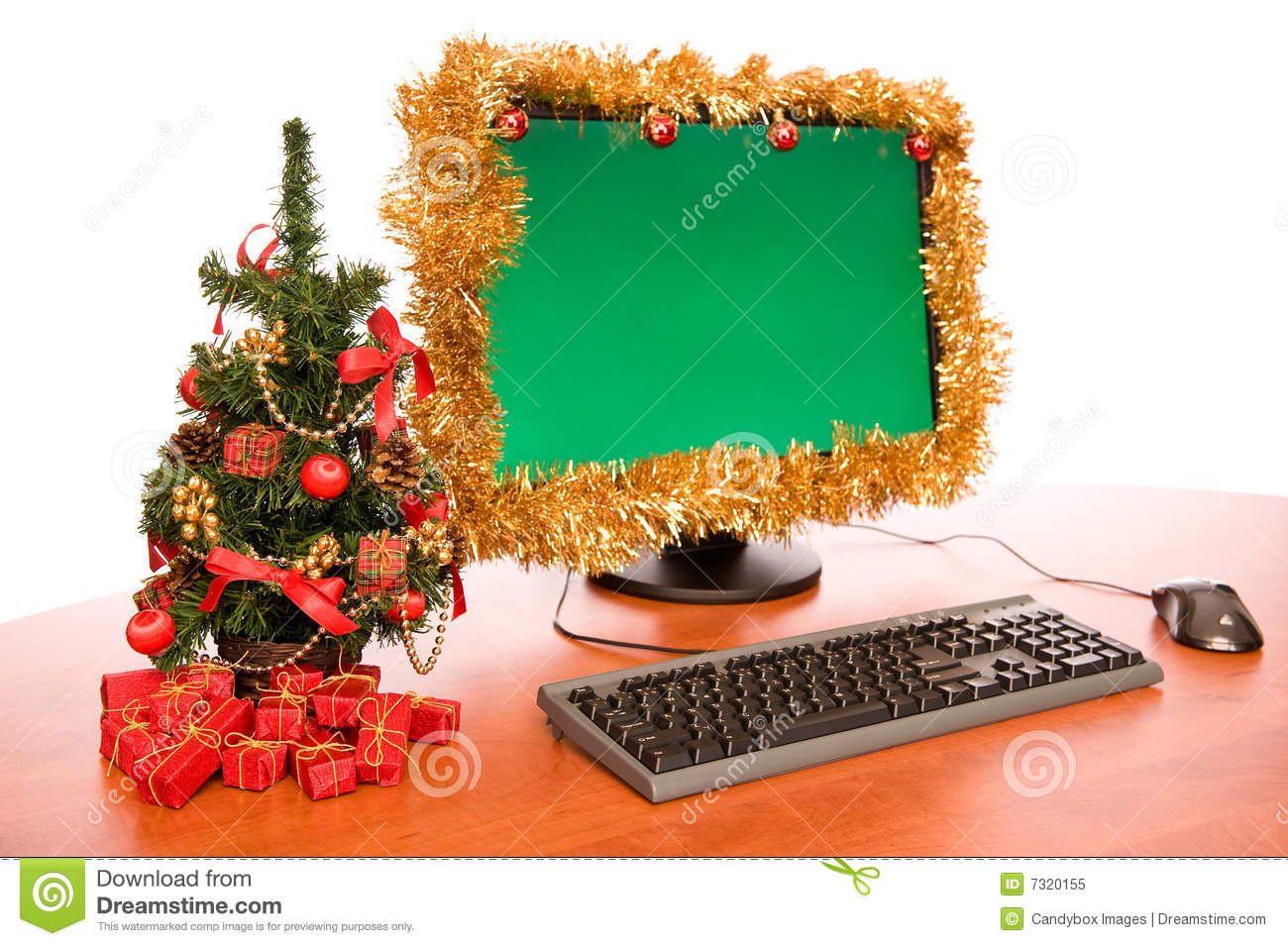 13 - Office Desk Christmas Decorations