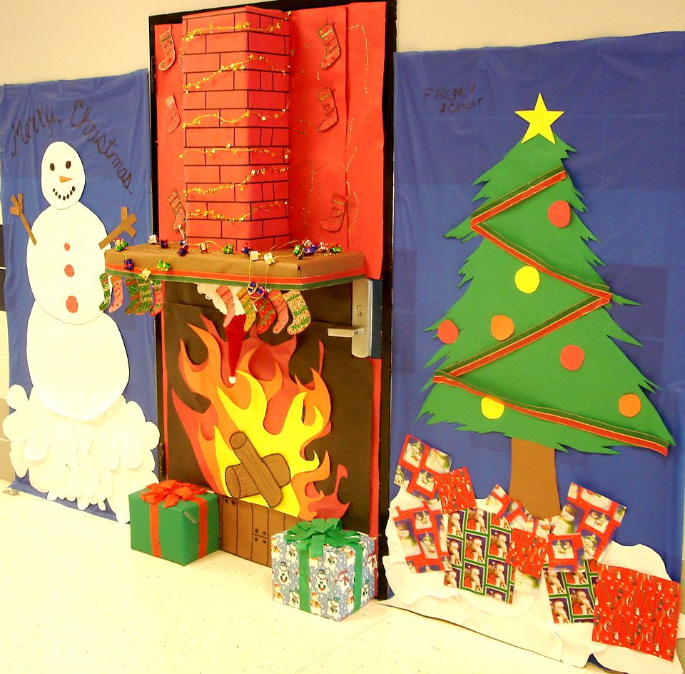 Christmas door decorations ideas for the office - 17