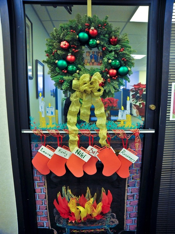 Nice Decorate Office Door Santa 40 Office Christmas Decorating Ideas Christmas Snydle 40 Office Christmas Decorating Ideas All About Christmas