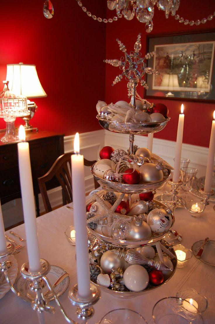25 popular christmas table decorations on pinterest all for Christmas decorations