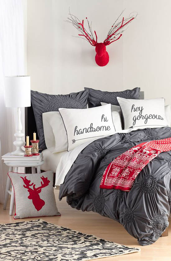 christmas bedroom decorating ideas 18 - Christmas Bedroom Decor Ideas