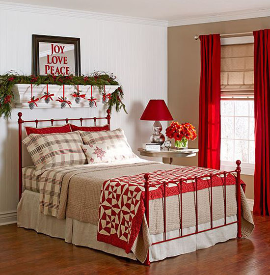 christmas bedroom decorating ideas 2. 35 Mesmerizing Christmas Bedroom Decorating Ideas   All About