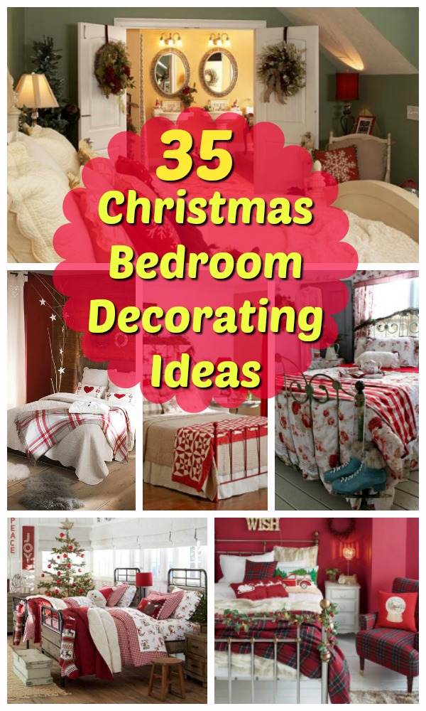christmas bedroom decorating ideas - Christmas Bedroom Decor Ideas