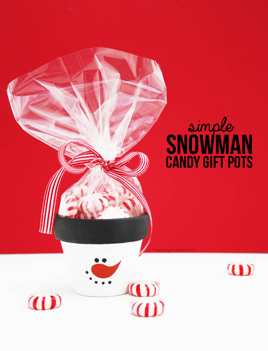 Snowman Candy Gift Pots