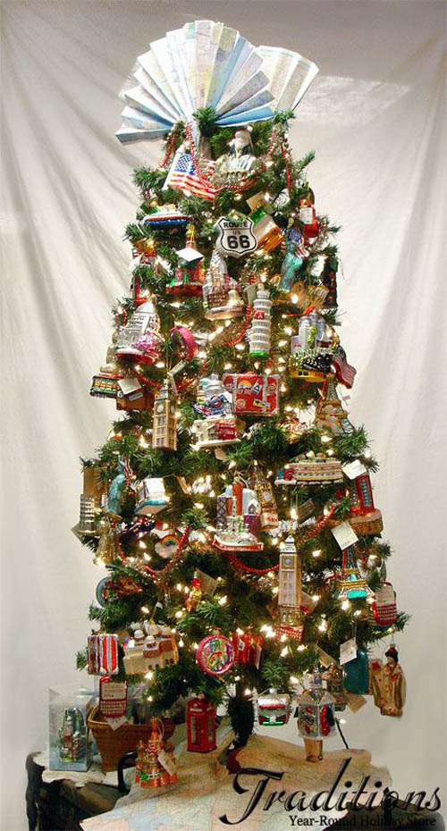 around the world christmas tree theme ideas 4