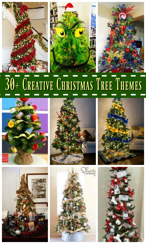 30 creative christmas tree theme ideas all about christmas Creative christmas decorations