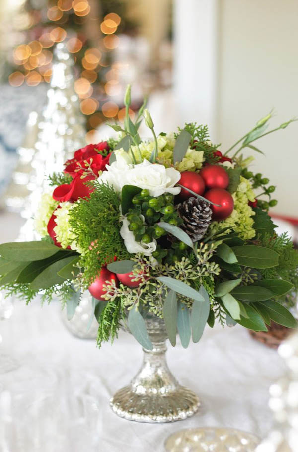 40 Christmas Wedding Centerpieces Decorations All About Christmas