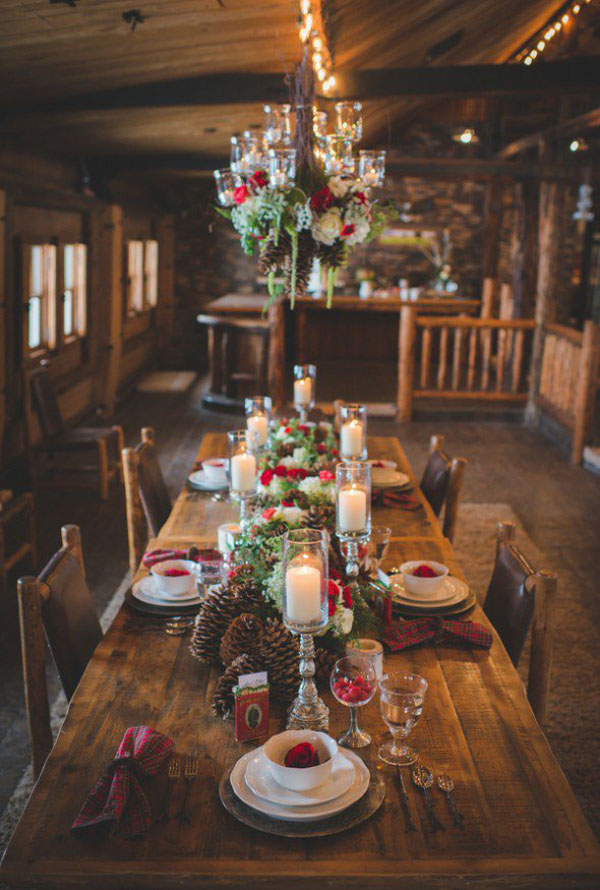 Rustic Romance Christmas Wedding Decoration Ideas 5
