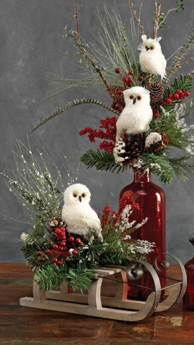 Decors De Table De Noel En Bois Pinterest