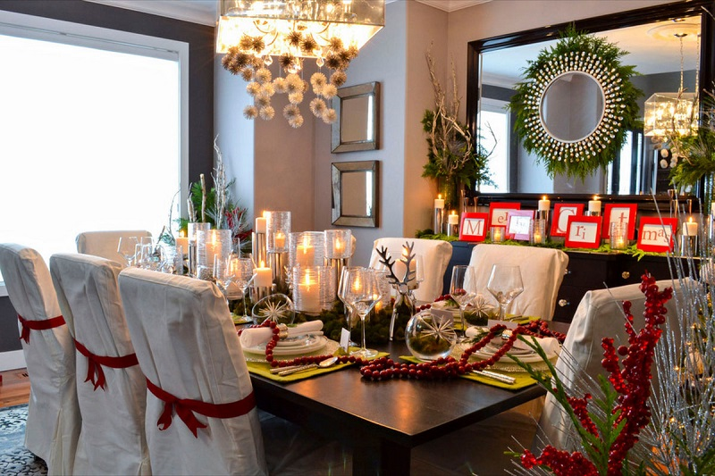 dining room christmas decorations - Pinterest Christmas Table Decorations