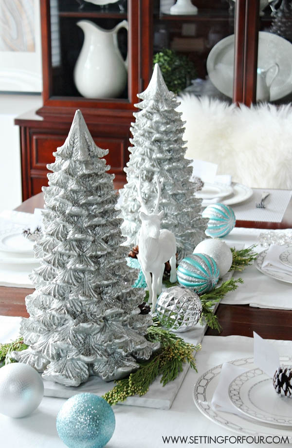Decorating Ideas > 40+ Easy To Make Christmas Table Centerpieces  All About  ~ 004028_Christmas Centerpiece Ideas Easy