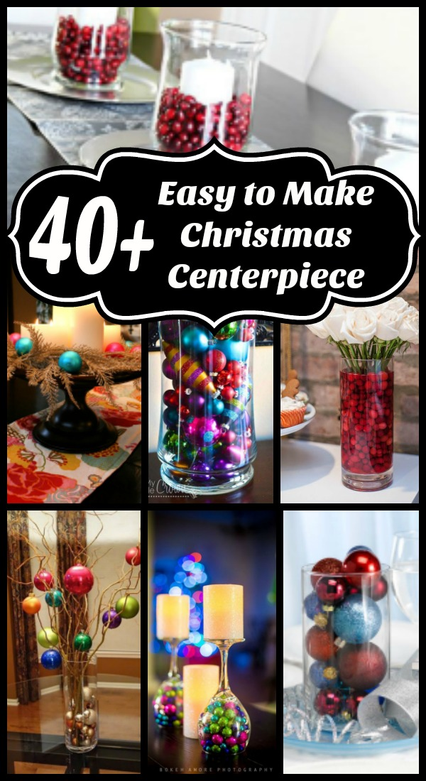 Easy to make christmas table centerpieces all about