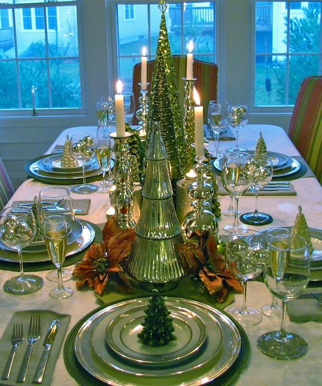 25 Popular Christmas Table Decorations On Pinterest