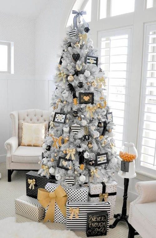modern white christmas tree - Modern Christmas Tree Decorations