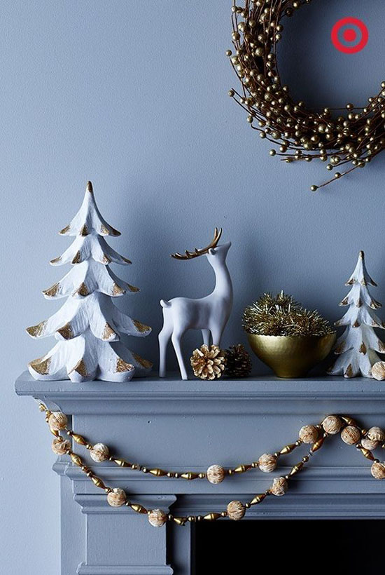 40 modern christmas decorations ideas all about christmas - Modern christmas mantel ideas ...