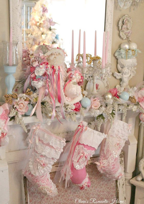 pink christmas decorations 10
