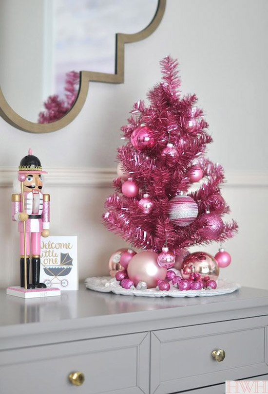 Pink christmas decorating ideas all about christmas for All christmas decorations