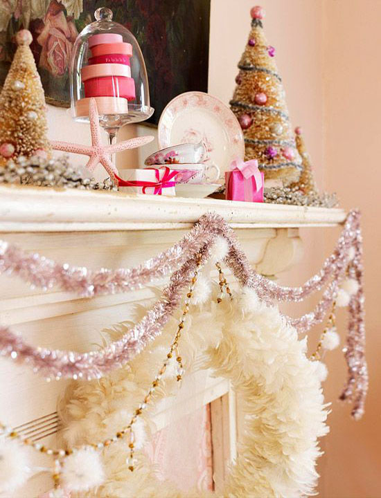 pink christmas decorations 2