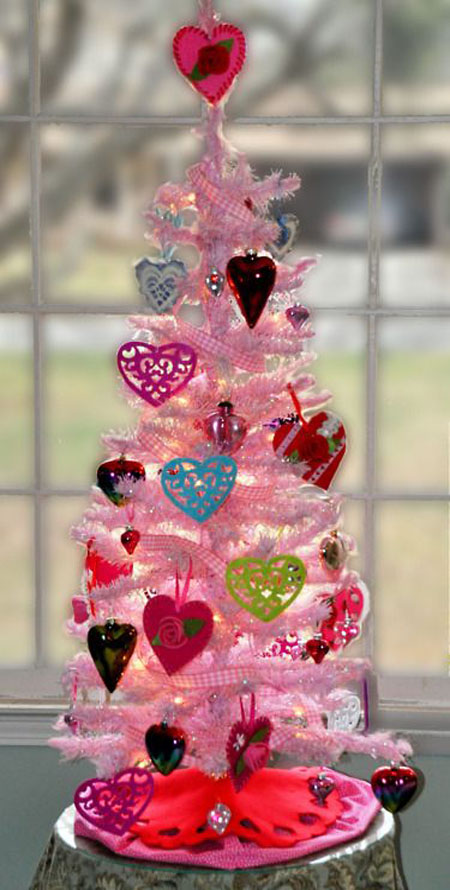 pink christmas decorations 22