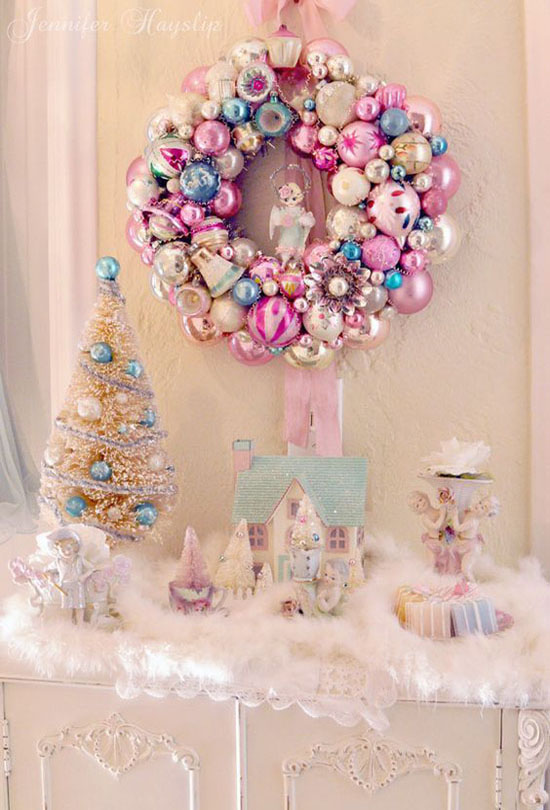 pink christmas decorations 3