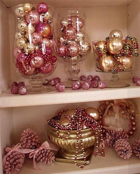 pink christmas decorations 35