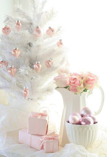 pink christmas decorations 7 - Pastel Christmas Decorations