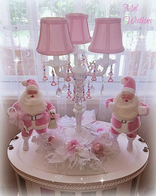 pink christmas decorations 8