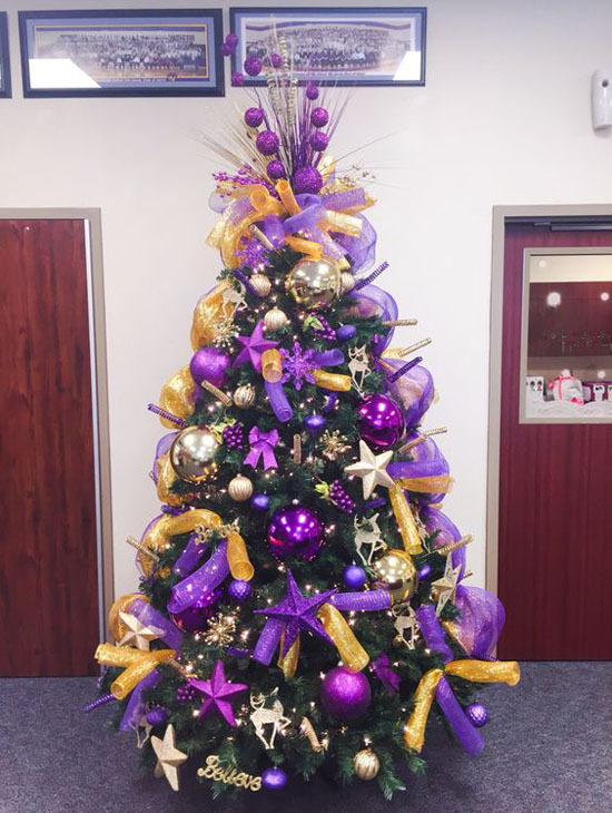Gold And Purple Christmas Decorations Rainforest Islands Ferry
