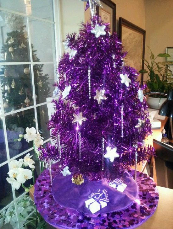 purple christmas decorations 22