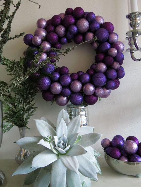 purple christmas decorations 3