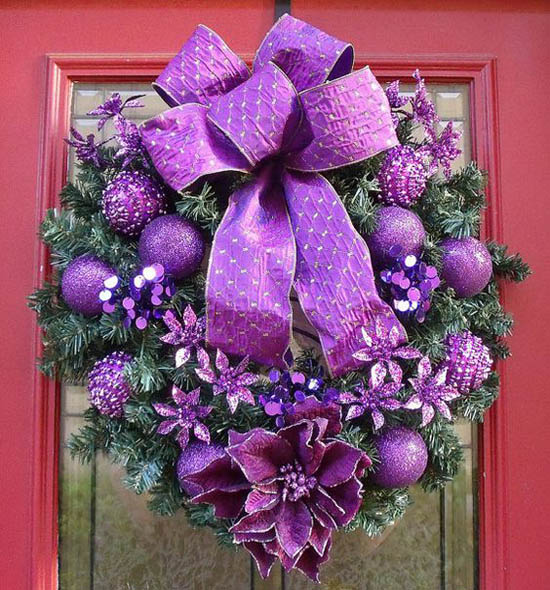 purple-christmas-decorations-31
