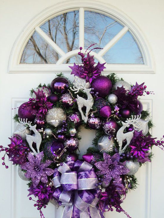 purple christmas decorations 6 - Purple And Silver Christmas Tree Decorations