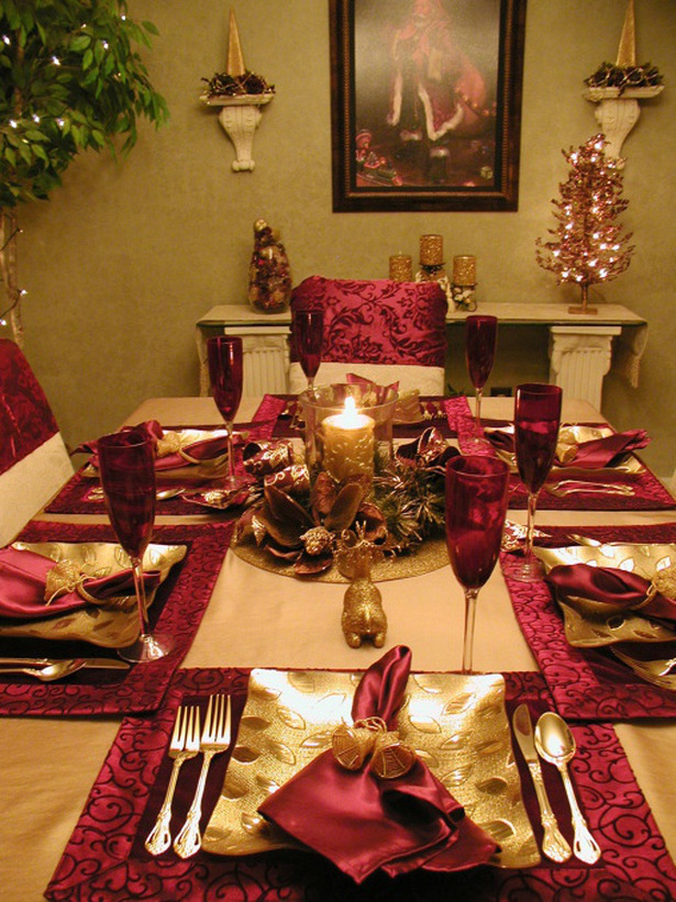 red christmas decorations - Pinterest Christmas Table Decorations