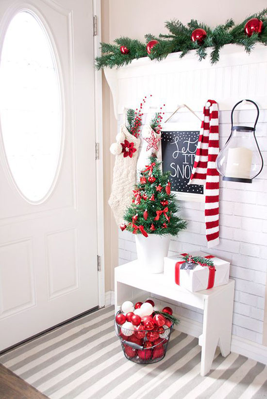 Red and white christmas decorating ideas all about