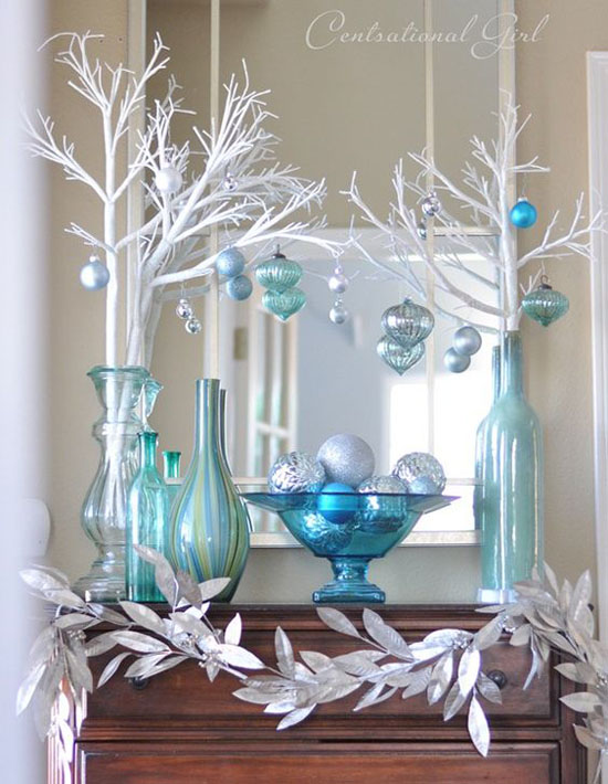 silver christmas decorations 2 - Aqua Christmas Decorations