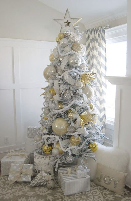 silver christmas decorations 3 - Silver Christmas Tree Decorating Ideas