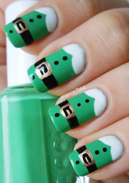 Simple Christmas Nail Art Designs All About Christmas
