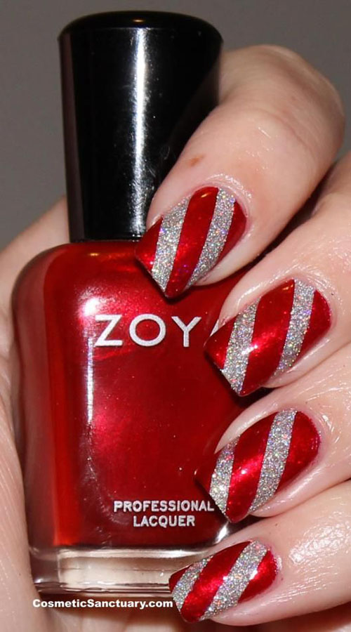 simple christmas nail designs 13 - Red Christmas Nails