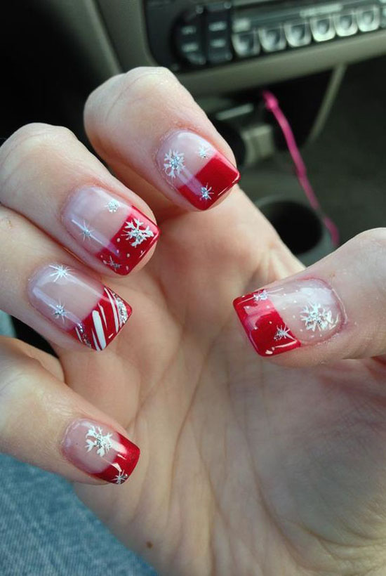 simple-christmas-nail-designs-14 - Simple Christmas Nail Art Designs - All About Christmas