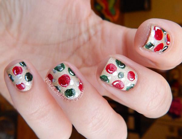 Christmas Tree Nail Design