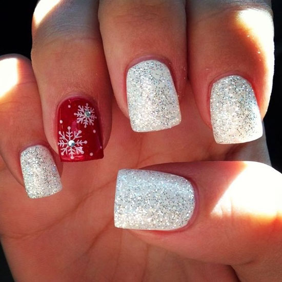 simple-christmas-nail-designs-2 - Simple Christmas Nail Art Designs - All About Christmas