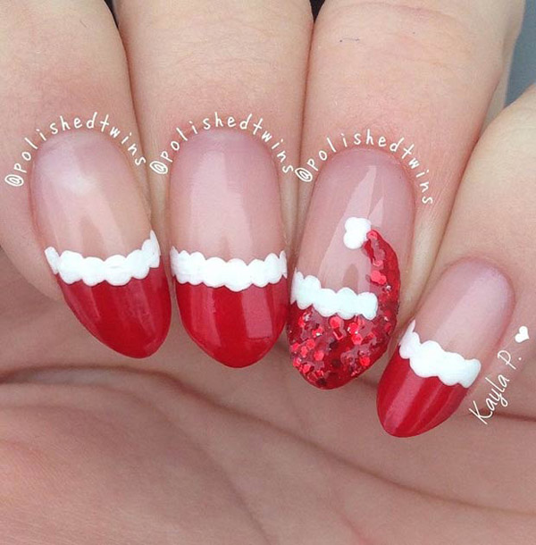 simple nails for christmas