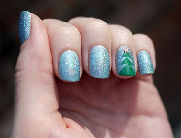 Simple Green Nail Art Designs