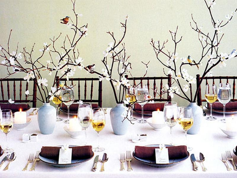 Winter Christmas Table Decoration