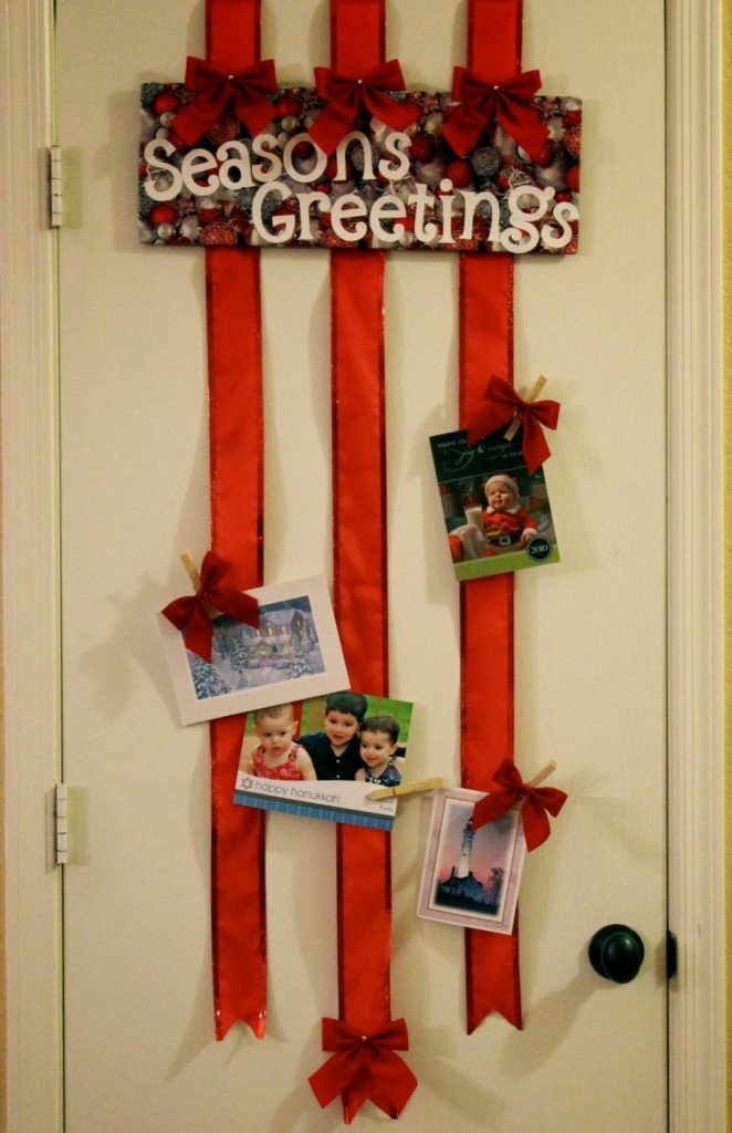 40 fantabulous christmas ribbon decoration ideas all for Unique christmas door decorations
