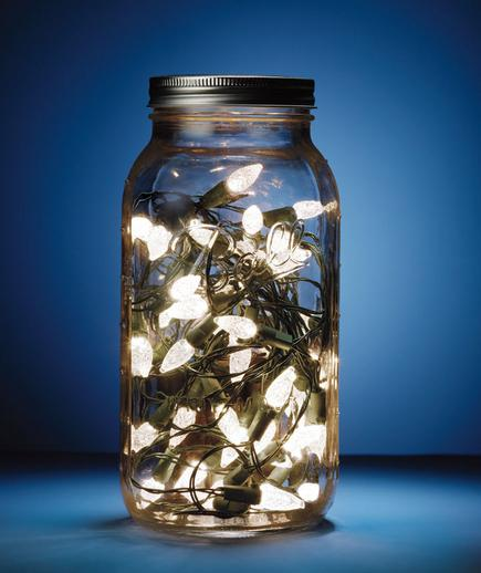 2 - 40 Christmas Light Decorations In A Jar - All About Christmas
