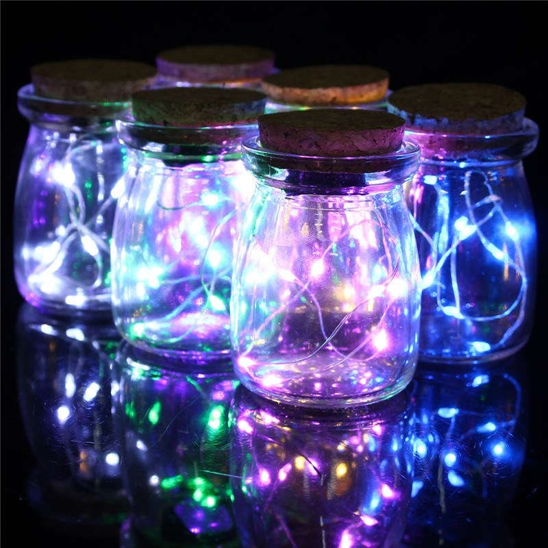 Christmas light decorations in a jar all about