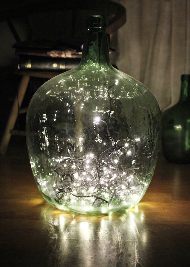 how to put lights in a jar