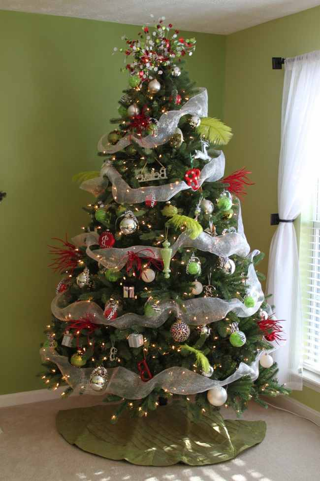 40 fantabulous christmas ribbon decoration ideas all about christmas - Christmas tree decoration ...