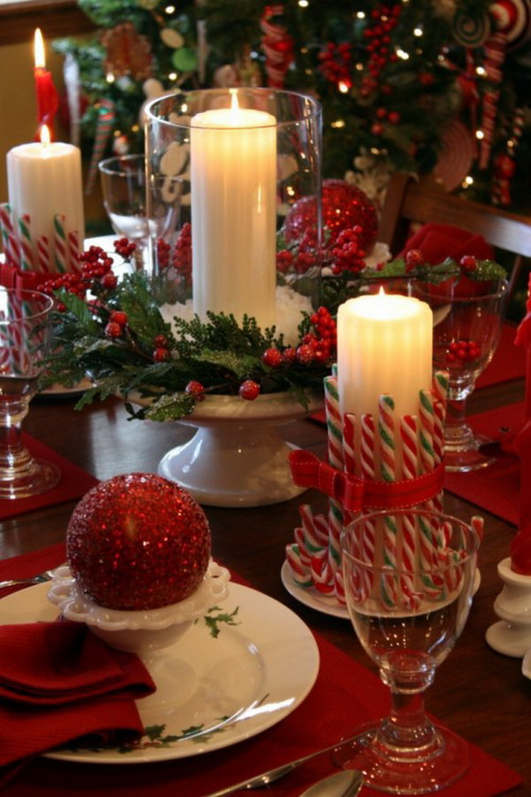 Pleasing 40 Christmas Dinner Table Decoration Ideas All About Christmas Home Interior And Landscaping Eliaenasavecom